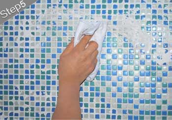 mosaic tiles installation guide step 5
