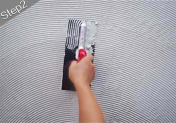 mosaic tiles installation guide step 2