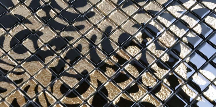 glass puzzle mosaic tile details - doud007