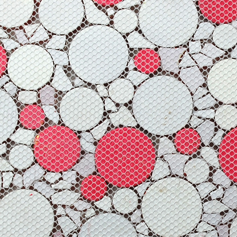 back of the crystal glass tile penny round mosaic wall mesh mounted tiles