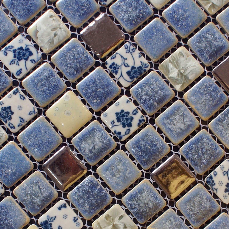 porcelain tile snowflake style mosaic wall tiles