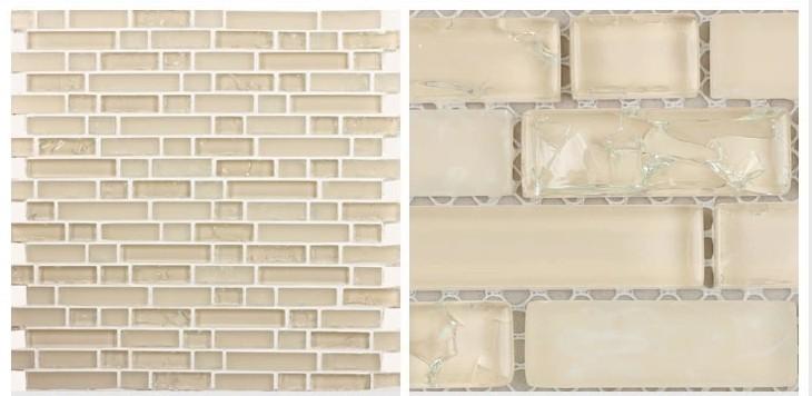 glass mosaic tile crack