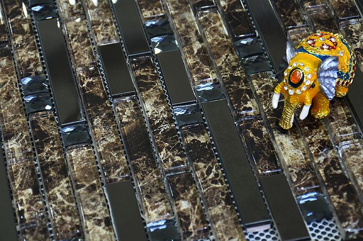 glass mosaic interlocking tile