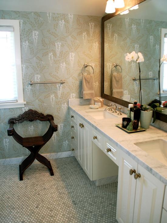 mother of pearl tile shower wall backsplash