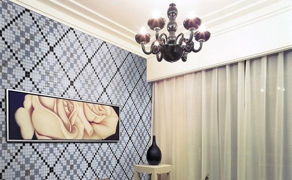 glass mosaic tile pattern crystal backsplash dining room wall tiles