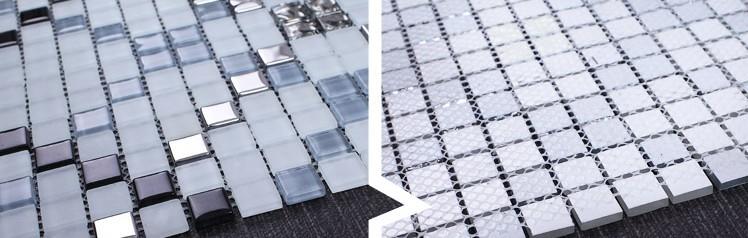 crystal glass tile glazed vitreous mosaic wall tiles