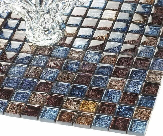 black metal glass mosaic tiles m