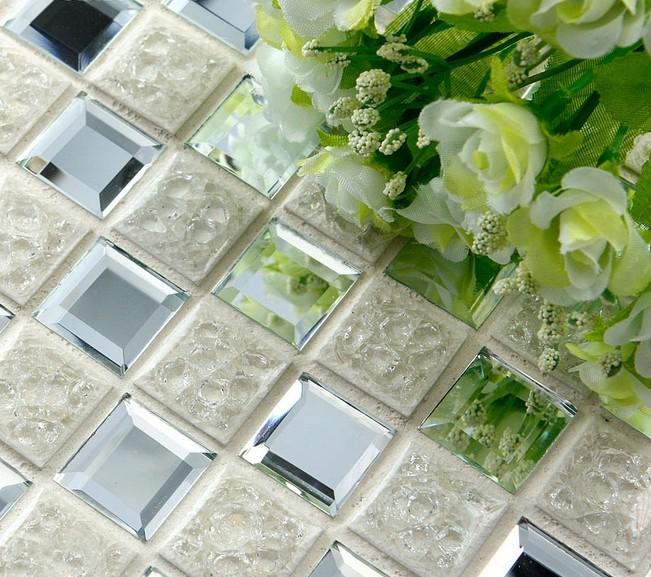 porcelain mosaic tile details crystal glass flower pattern tiles