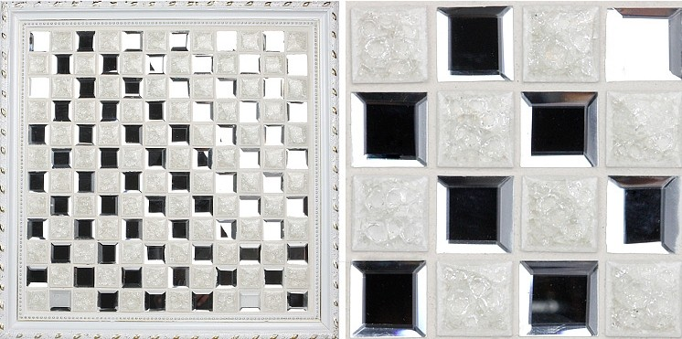 front side of the porcelain tile crysal glass blend mosaic