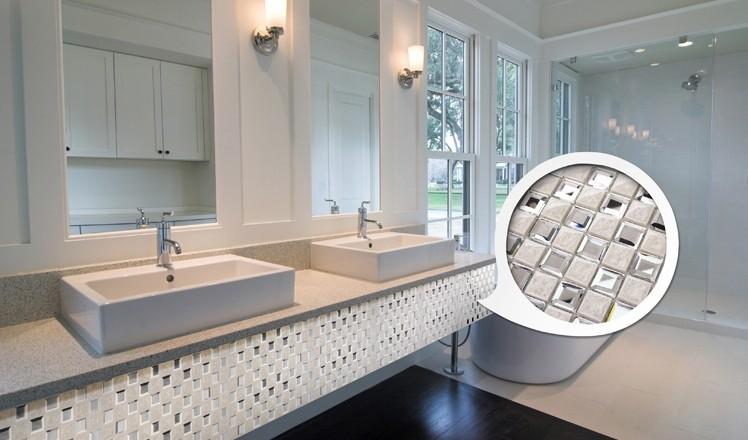 porcelain glass mosaic tile for bathroom backsplash wall tile