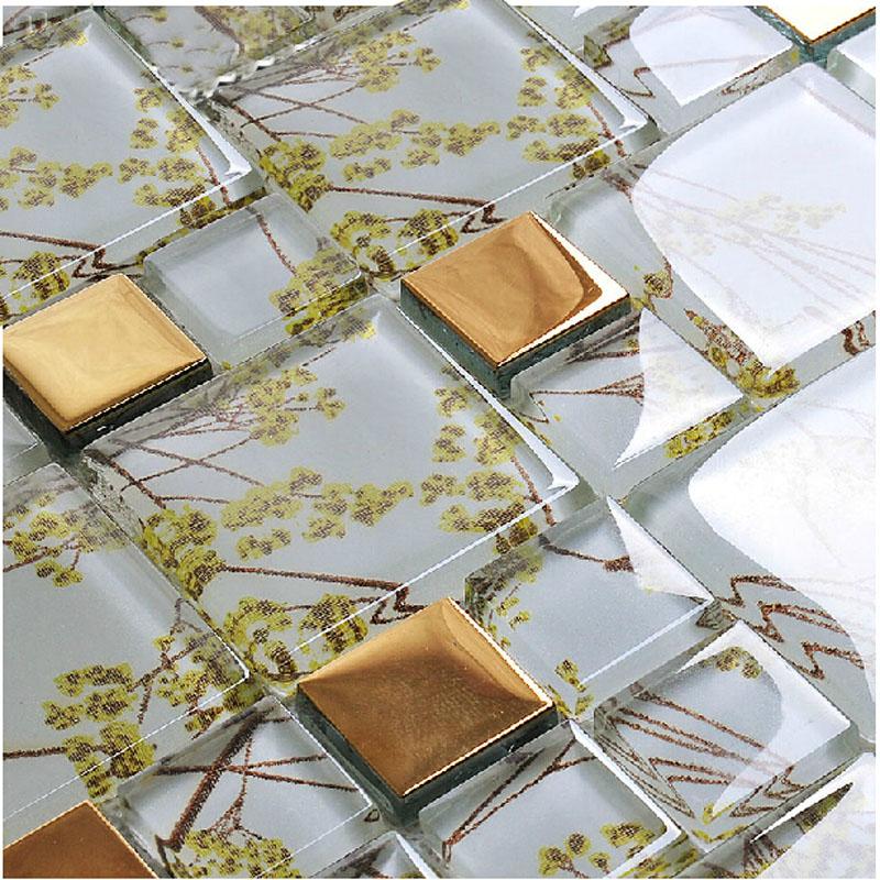 crystal glass tile vitreous mosaic wall tiles